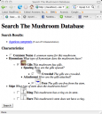 The earliest picture of the Mushroom Database on file.