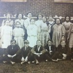 George June second on right front row, Elementary school.