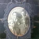 George June bottom left, with classmates.