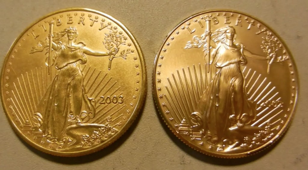 Fake Gold Eagle vs real
